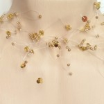 Collier mariage tout en perles or