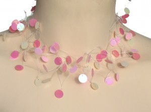 Collier mariage rose