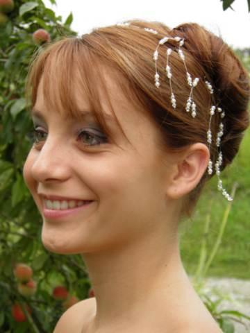 Epingle à cheveux mariage blanc et cristal
