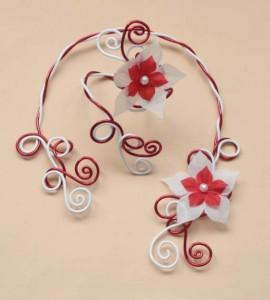 Parure_mariage_aluminium_blanc__rouge_+_fleurs