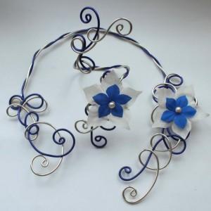 Parure_mariage_aluminium_bleu_champagne_fleurs