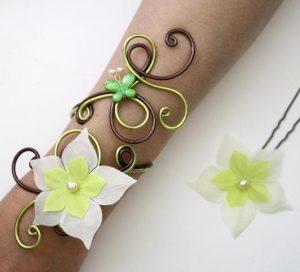 Bracelet personnalisé en chocolat et vert anis