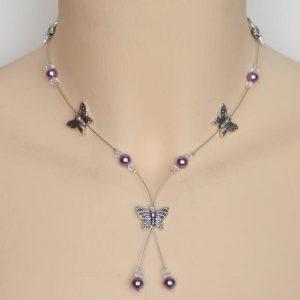 Collier personnalisé en violet